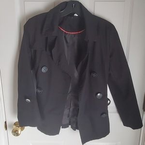 H&M Croped Black Trench Coat